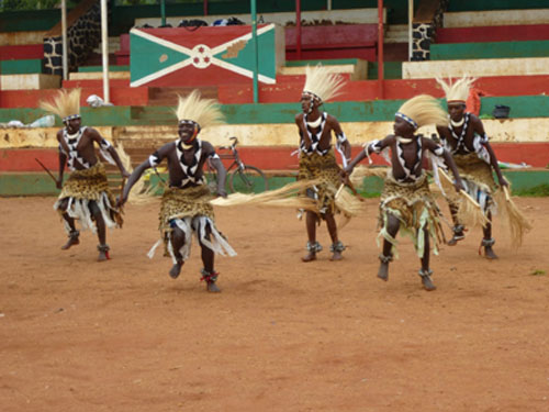 Fam- and presstrip to Burundi. The Warrior dancers